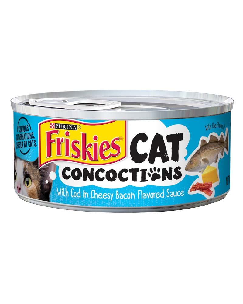 Cat Concoctions With Cod in Cheesy Bacon Flavored Sauce