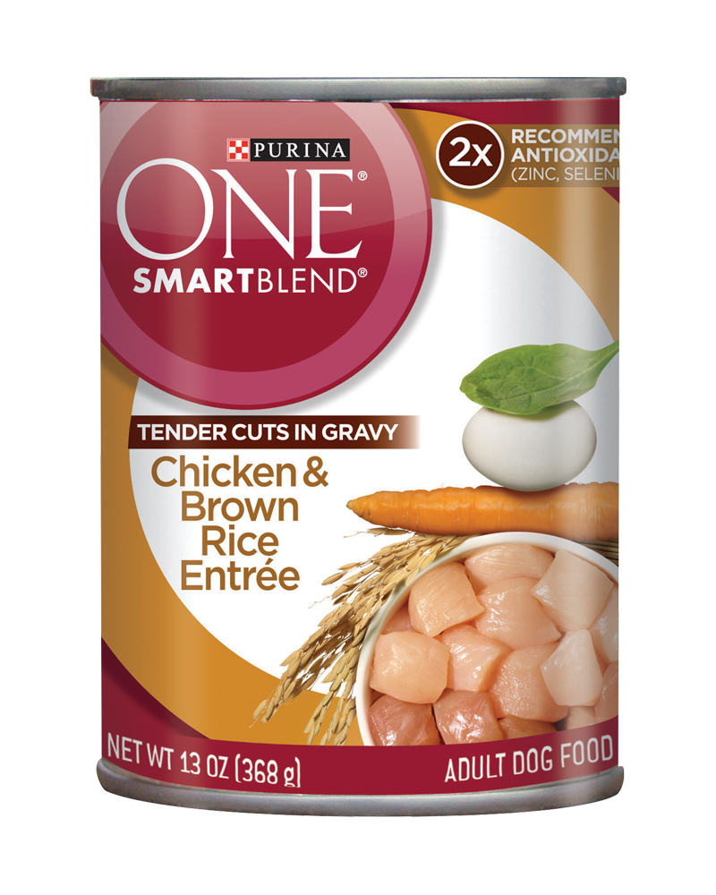 SmartBlend® Chicken & Brown Rice Entrée - Tender Cuts in Gravy