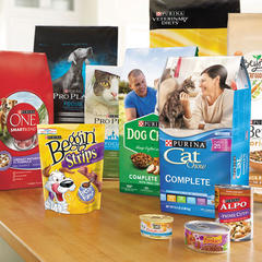Purina products on table